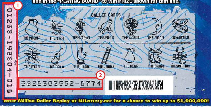 thumbnail of where to find my ticket number on an scratch-offs ticket